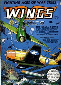 Cover Thumbnail for Wings Comics (Fiction House, 1940 series) #27