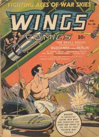 Cover Thumbnail for Wings Comics (Fiction House, 1940 series) #29