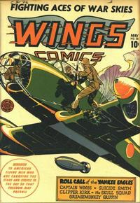 Cover Thumbnail for Wings Comics (Fiction House, 1940 series) #33