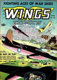 Cover Thumbnail for Wings Comics (Fiction House, 1940 series) #34
