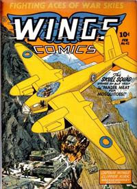 Cover Thumbnail for Wings Comics (Fiction House, 1940 series) #42