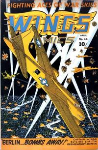 Cover Thumbnail for Wings Comics (Fiction House, 1940 series) #44
