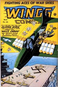 Cover Thumbnail for Wings Comics (Fiction House, 1940 series) #45