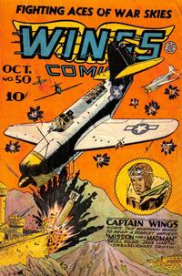 Cover Thumbnail for Wings Comics (Fiction House, 1940 series) #50