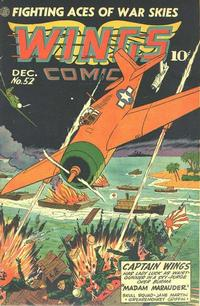 Cover Thumbnail for Wings Comics (Fiction House, 1940 series) #52