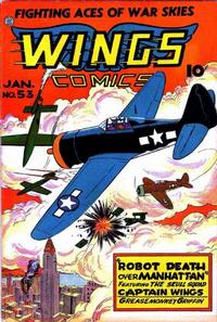 Cover Thumbnail for Wings Comics (Fiction House, 1940 series) #53