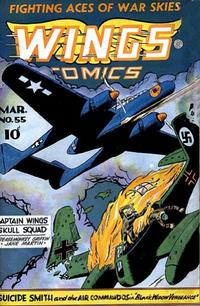 Cover Thumbnail for Wings Comics (Fiction House, 1940 series) #55