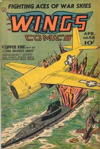 Cover Thumbnail for Wings Comics (Fiction House, 1940 series) #56