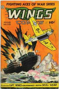 Cover Thumbnail for Wings Comics (Fiction House, 1940 series) #58
