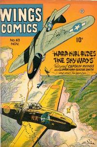 Cover Thumbnail for Wings Comics (Fiction House, 1940 series) #63