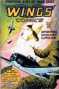 Cover Thumbnail for Wings Comics (Fiction House, 1940 series) #67