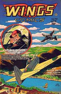 Cover Thumbnail for Wings Comics (Fiction House, 1940 series) #70