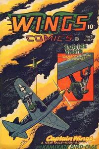 Cover Thumbnail for Wings Comics (Fiction House, 1940 series) #71
