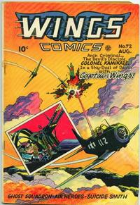 Cover Thumbnail for Wings Comics (Fiction House, 1940 series) #72