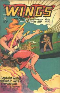 Cover Thumbnail for Wings Comics (Fiction House, 1940 series) #73