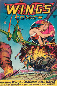 Cover Thumbnail for Wings Comics (Fiction House, 1940 series) #74