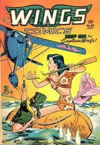 Cover Thumbnail for Wings Comics (Fiction House, 1940 series) #83