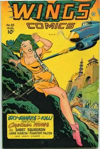 Cover Thumbnail for Wings Comics (Fiction House, 1940 series) #84