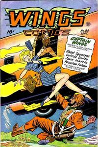 Cover Thumbnail for Wings Comics (Fiction House, 1940 series) #85