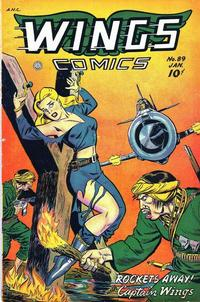 Cover Thumbnail for Wings Comics (Fiction House, 1940 series) #89