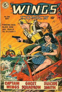Cover Thumbnail for Wings Comics (Fiction House, 1940 series) #105