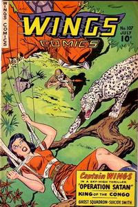 Cover Thumbnail for Wings Comics (Fiction House, 1940 series) #107