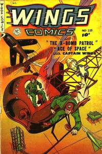 Cover Thumbnail for Wings Comics (Fiction House, 1940 series) #115