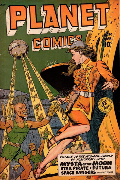 Cover for Planet Comics (Fiction House, 1940 series) #59