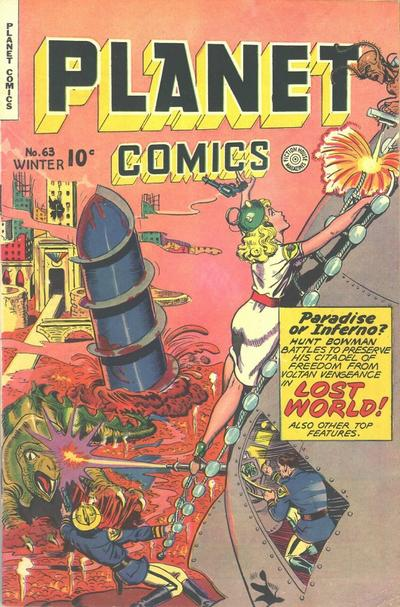 Cover for Planet Comics (Fiction House, 1940 series) #63