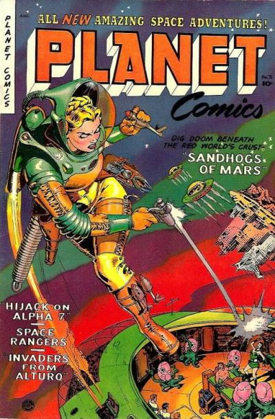 Cover for Planet Comics (Fiction House, 1940 series) #71