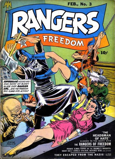 Cover for Rangers of Freedom Comics (Fiction House, 1941 series) #3