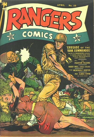 Cover for Rangers Comics (Fiction House, 1942 series) #10