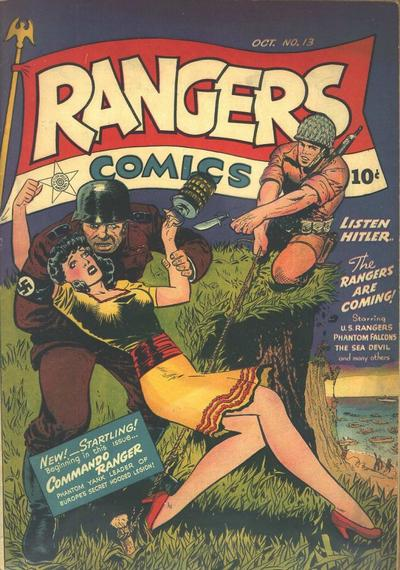 Cover for Rangers Comics (Fiction House, 1942 series) #13
