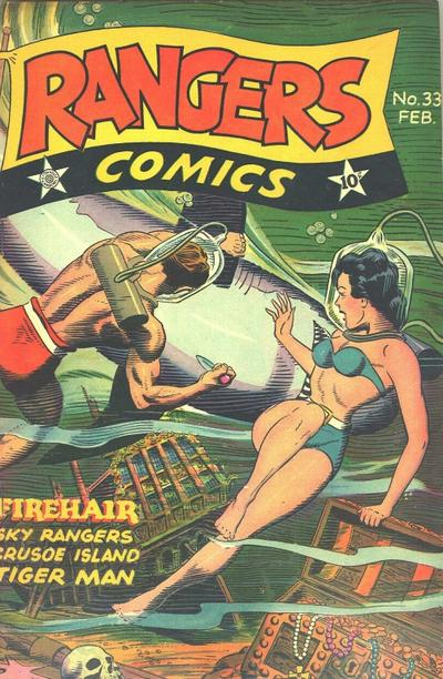 Cover for Rangers Comics (Fiction House, 1942 series) #33