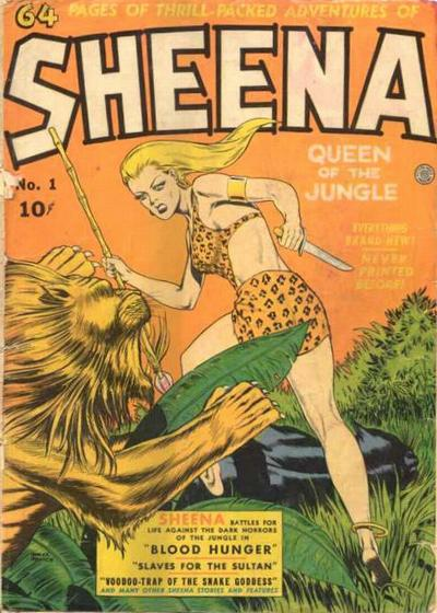 Cover for Sheena, Queen of the Jungle (Fiction House, 1942 series) #1