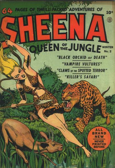 Cover for Sheena, Queen of the Jungle (Fiction House, 1942 series) #2