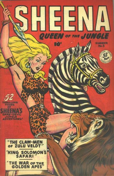 Cover for Sheena, Queen of the Jungle (Fiction House, 1942 series) #5