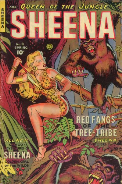 Cover for Sheena, Queen of the Jungle (Fiction House, 1942 series) #11