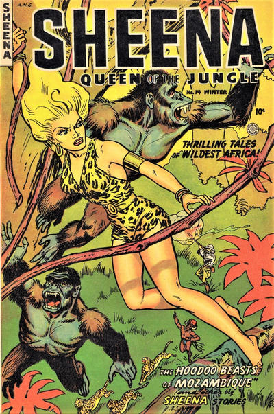Cover for Sheena, Queen of the Jungle (Fiction House, 1942 series) #14