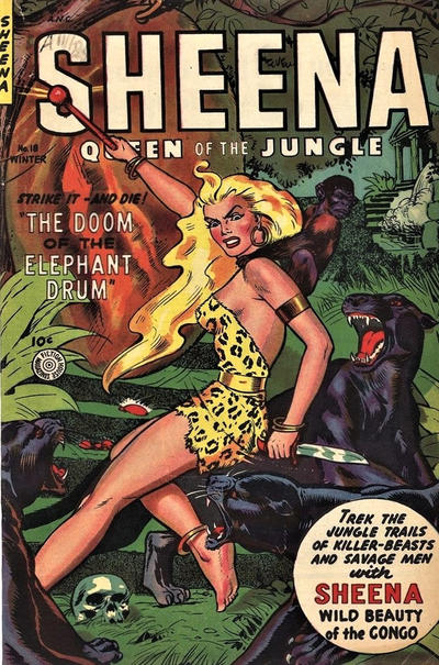 Cover for Sheena, Queen of the Jungle (Fiction House, 1942 series) #18