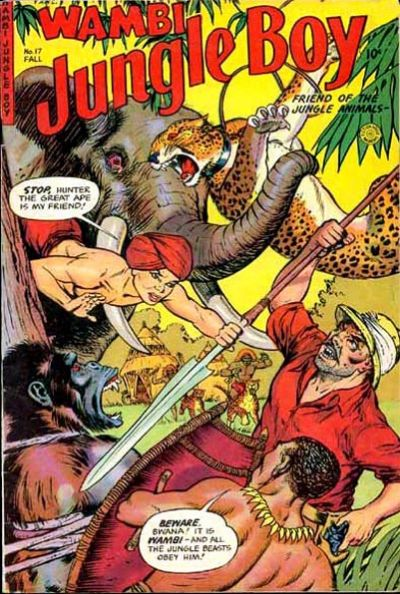 Cover for Wambi, Jungle Boy (Fiction House, 1942 series) #17