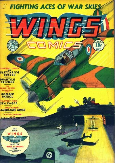 Cover for Wings Comics (Fiction House, 1940 series) #1