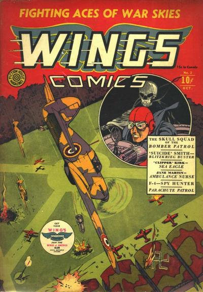 Cover for Wings Comics (Fiction House, 1940 series) #2