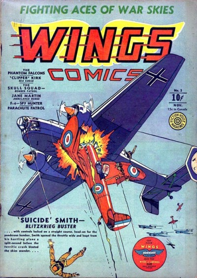 Cover for Wings Comics (Fiction House, 1940 series) #3