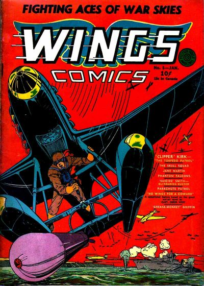 Cover for Wings Comics (Fiction House, 1940 series) #5