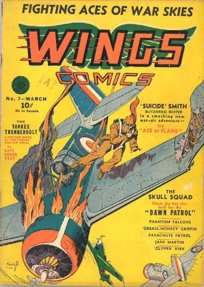 Cover for Wings Comics (Fiction House, 1940 series) #7