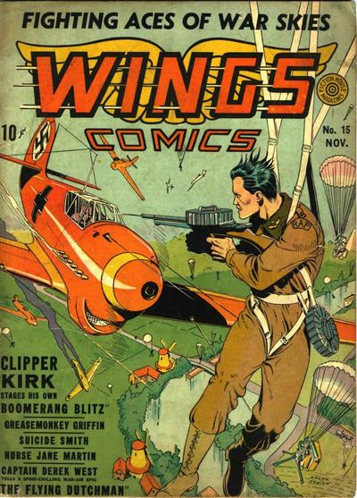 Cover for Wings Comics (Fiction House, 1940 series) #15