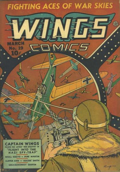 Cover for Wings Comics (Fiction House, 1940 series) #19