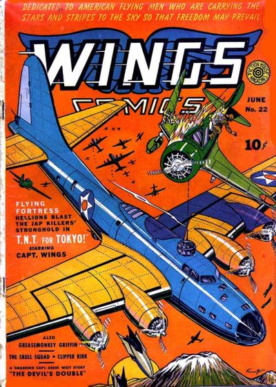Cover for Wings Comics (Fiction House, 1940 series) #22