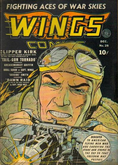 Cover for Wings Comics (Fiction House, 1940 series) #28